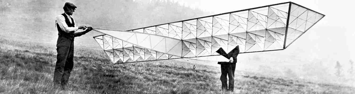 An Early photo of a flying machine