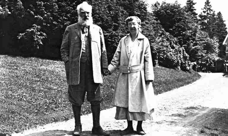 Black and White Photo of Alexander, and Mabel Bell later in life