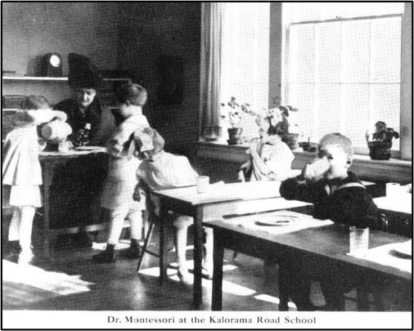 Dr. Montessori at the Kalorama Road School