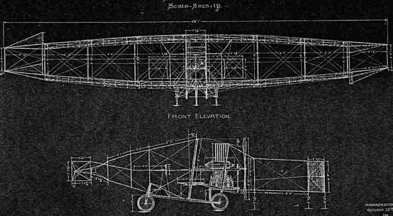 An early schematics of a plane